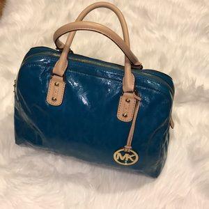 Michael Kors metallic satchel